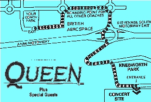 Knebworth Map